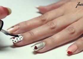 5 Valentine's Day Nail Art Designs Tutorial - رسومات أظافر سهلة لعيد الحب